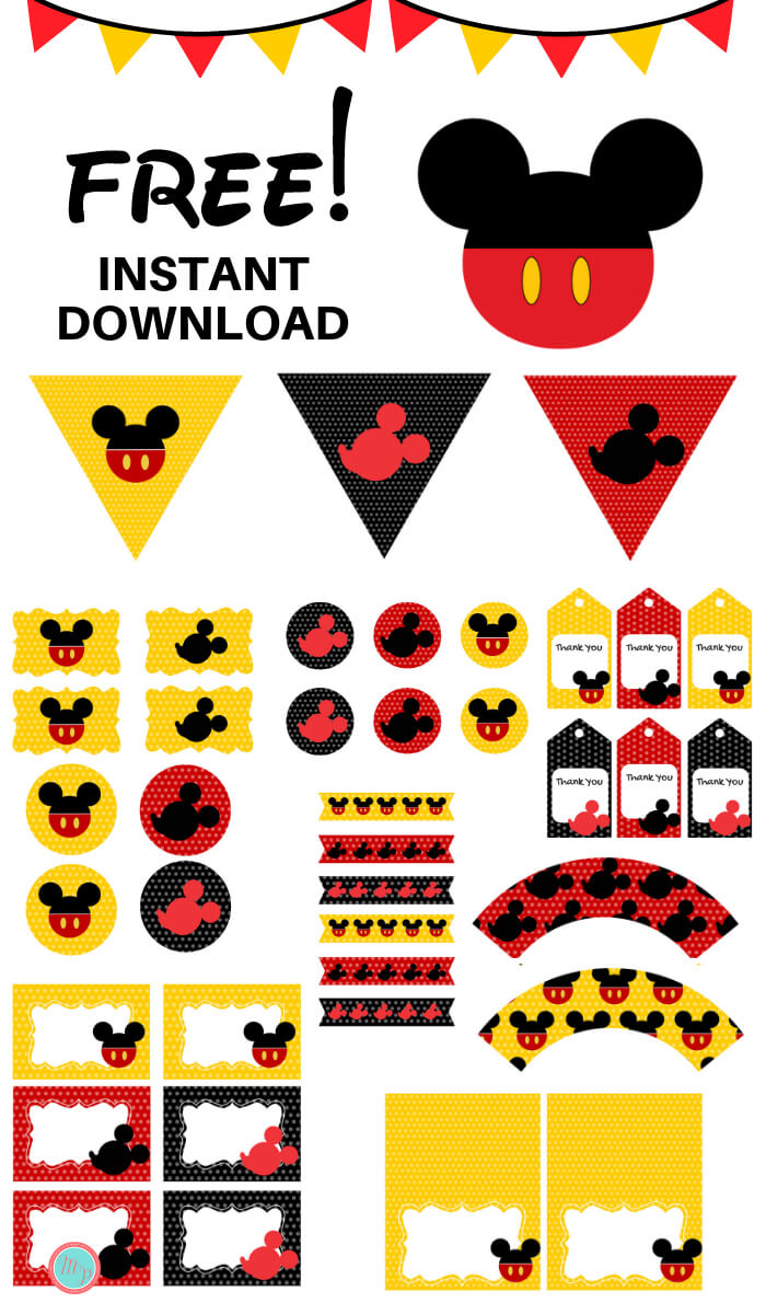 graphic about Free Printable Mickey Mouse Signs identify Freebies - Magical Printable