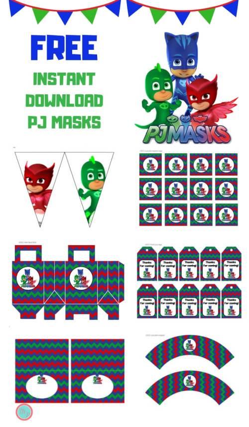 Free PJ Masks Party Printable 1