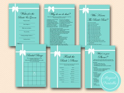 tiffany themed bridal shower games