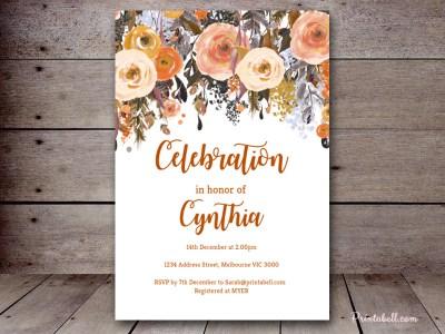 804784f7173c Editable Bridal Shower Invitations - Magical Printable