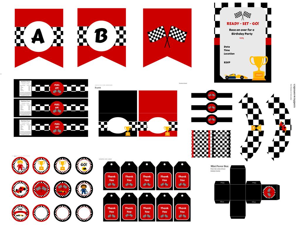 Race Car Birthday Pack