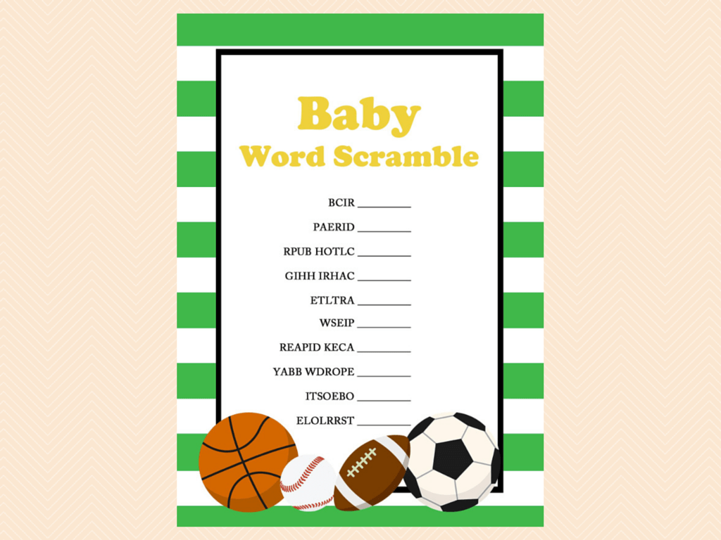 All Stars Baby Shower Games