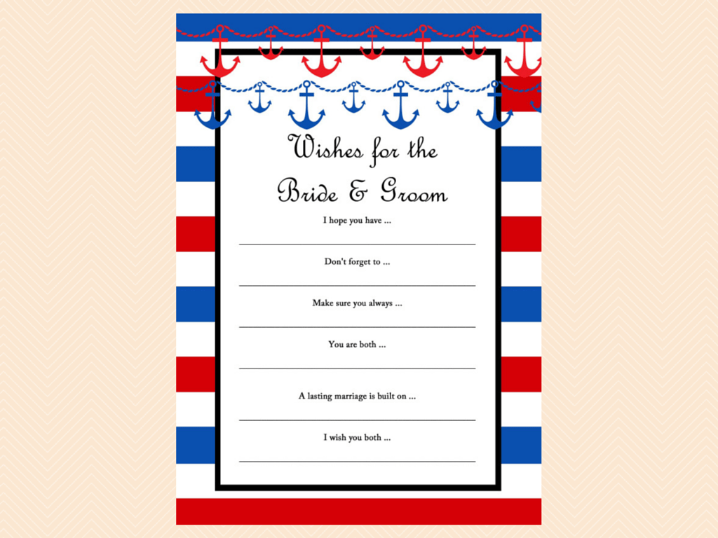 wishes for baby nautical bridal shower game printable packages nautical bridal shower games
