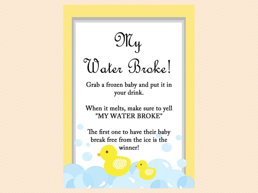 Yellow Rubber Duck Baby Shower Games
