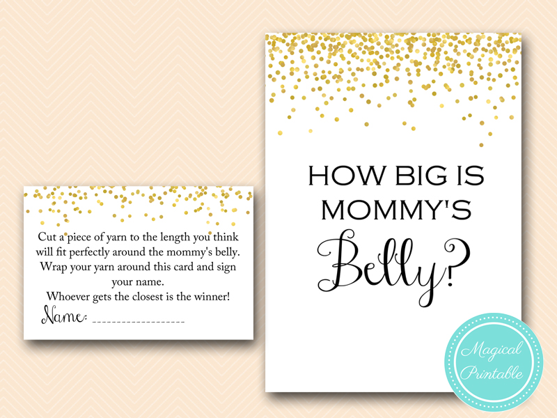 Gold Confetti Baby Shower Game Pack Magical Printable