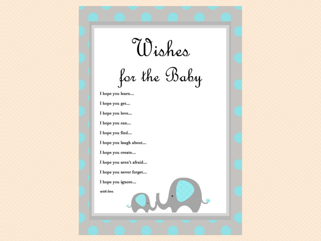 Blue Elephant Baby Shower Games