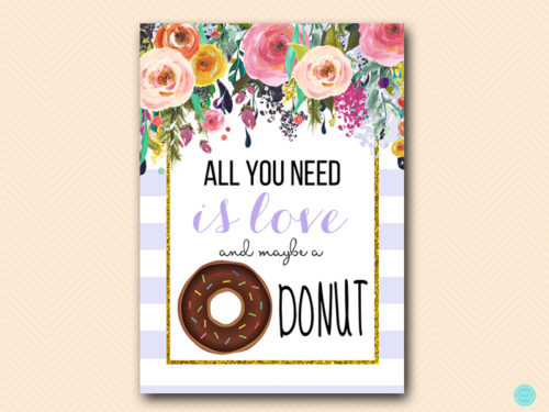 Download Lavender All you need is love and Donut Sign - Magical ...