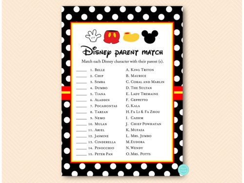 Mickey Mouse Baby Shower Games Pack - Magical Printable