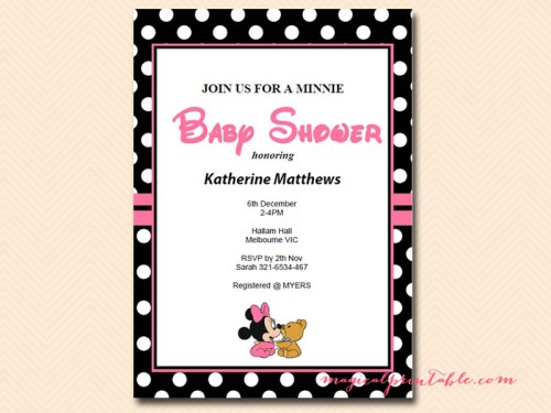 Minnie mouse baby shower games magical printable minnie mouse baby shower game minnie mouse baby shower invitations filmwisefo