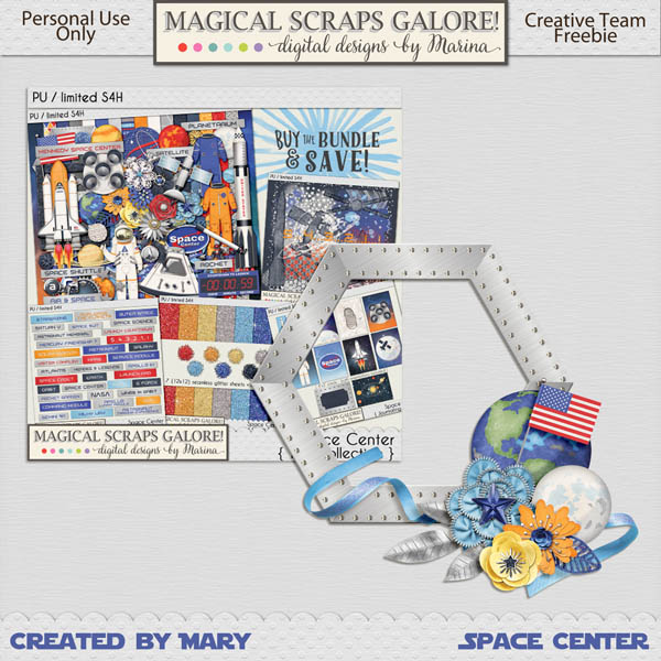 New collection: SPACE CENTER, and a freebie for you!