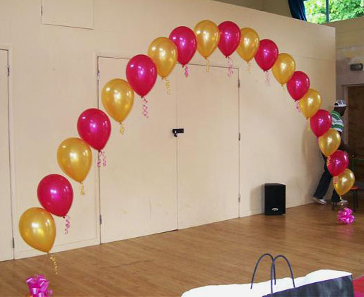 String Of Pearl Arch With Helium Magical Wonderlande