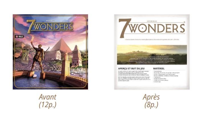 Aperçu des nouvelles règles de 7 Wonders