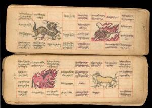 Livres de magie et Astrologie Mongole