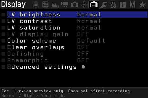 Synes du at det er vanskelig å se hva som står på skjermen? I ML kan du justere den slik du selv ønsker.