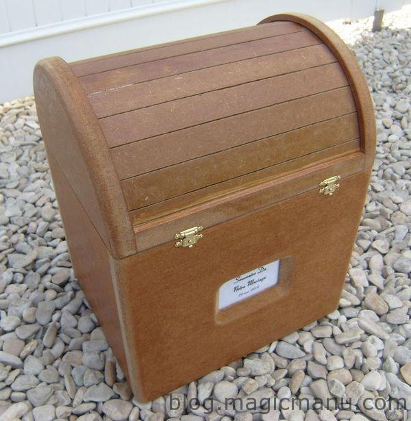 Fabrication d'un coffre en bois, cadeau de mariage