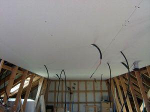 Blog de magicmanu :Aménagement de notre maison, Placo du plafond posé !
