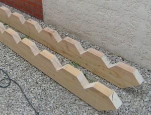Blog de magicmanu :Aménagement de notre maison, Escalier : decoupe des limons (poutres)