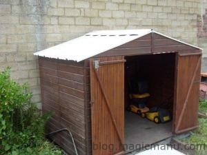 Blog de magicmanu : Aménagement de notre maison, Abri de jardin - Le toit