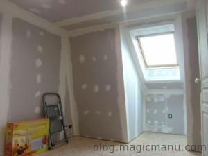 Blog de magicmanu : Aménagement de notre maison, Enduit placo