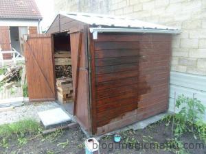 Abri de jardin – la lasure