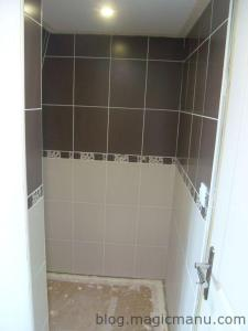 Carrelage de la douche