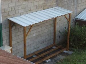 Blog de magicmanu :Aménagement de notre maison, Fabriquer un abri bois (Bûcher)