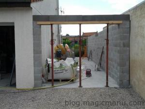 Blog de magicmanu : Aménagement de notre maison, Garage : les linteaux