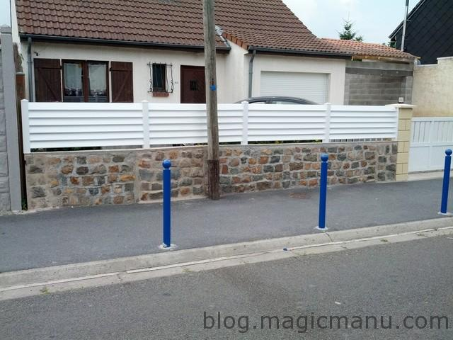 Clôture façade en PVC