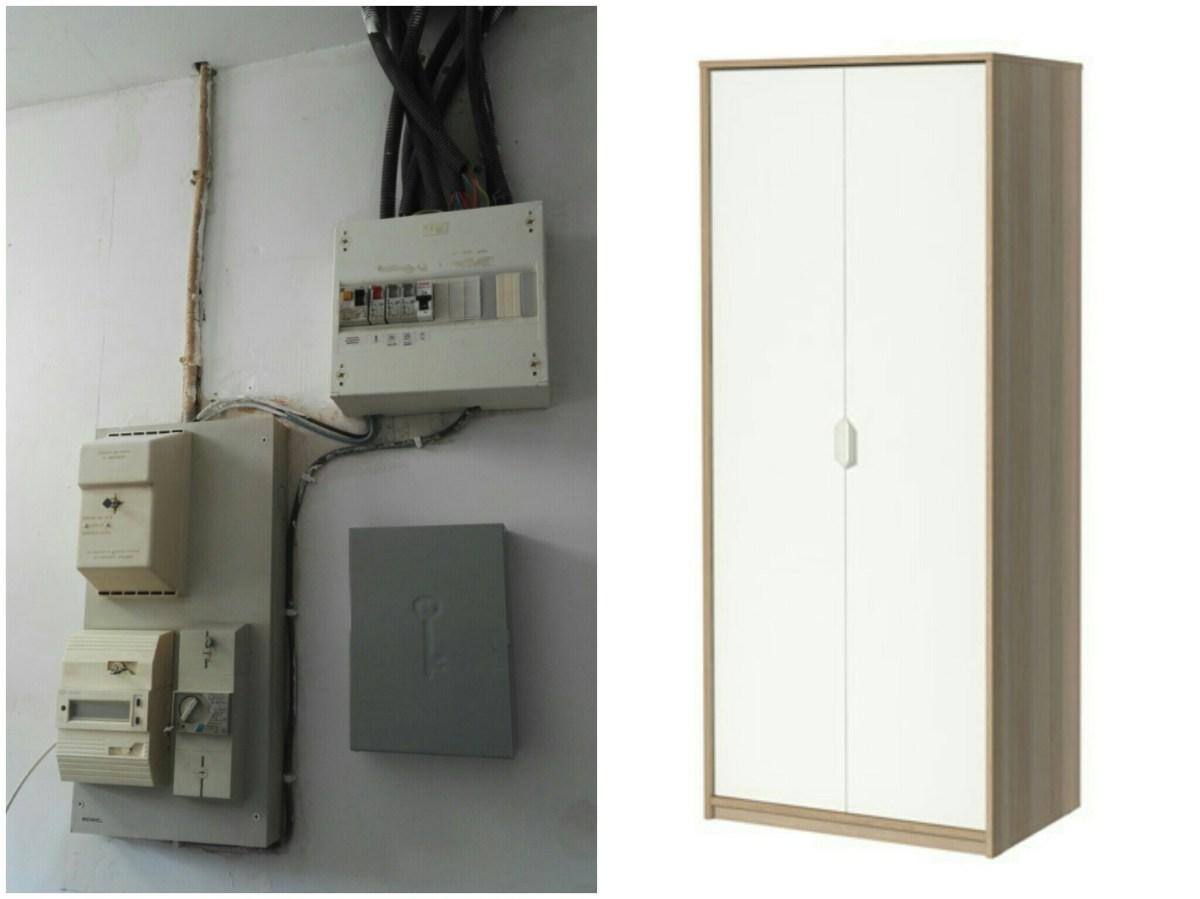 Armoire Pour Cacher Tableau Electrique boîte cache tableau électrique - magicmanu