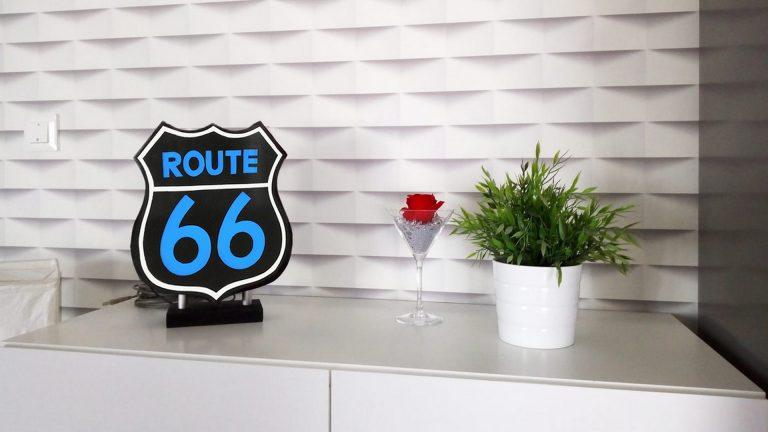 Fabriquer une urne lumineuse Route 66