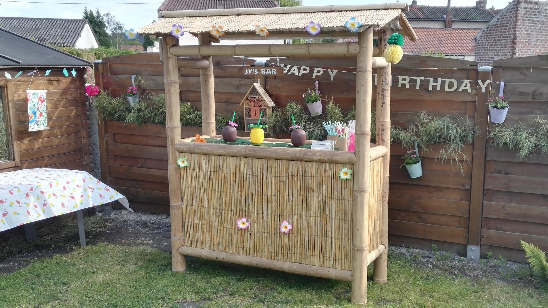 Fabriquer Un Bar En Bois fabriquer un tiki bar d'extérieur en bambou - magicmanu