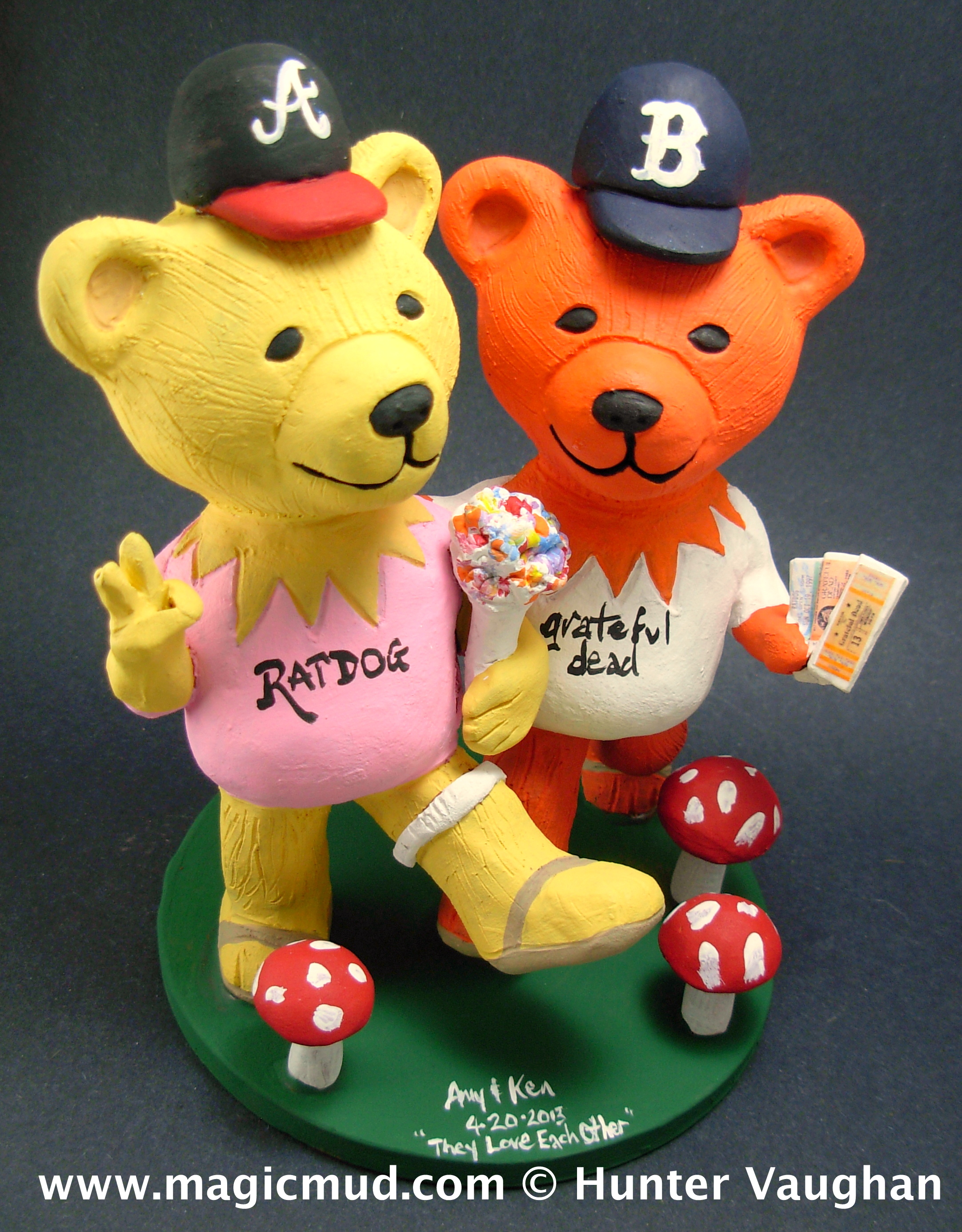 Jerry Bear Wedding Cake Toppers