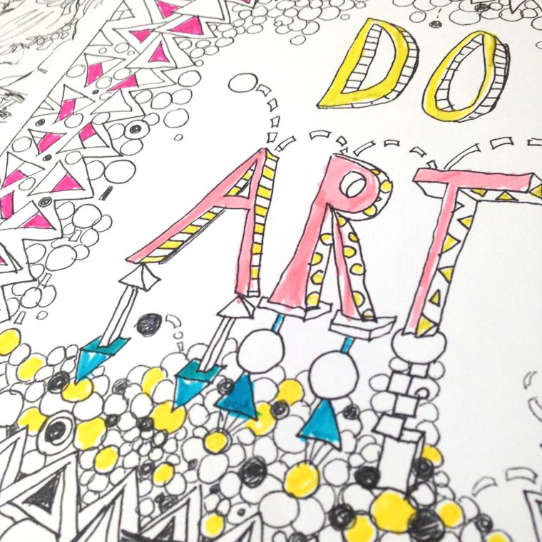 do art, coloring page