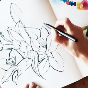 """Today you get a little peek into my art sketch book. I keep it for testing colours, it is my """"Gymnastic book for coloring""""."""
