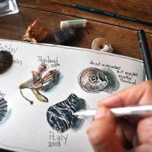 Watercolors sketchbook