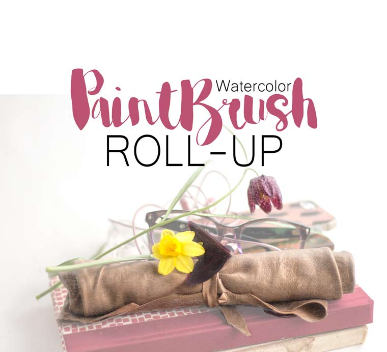 Paintbrush roll-up for watercolor DIY