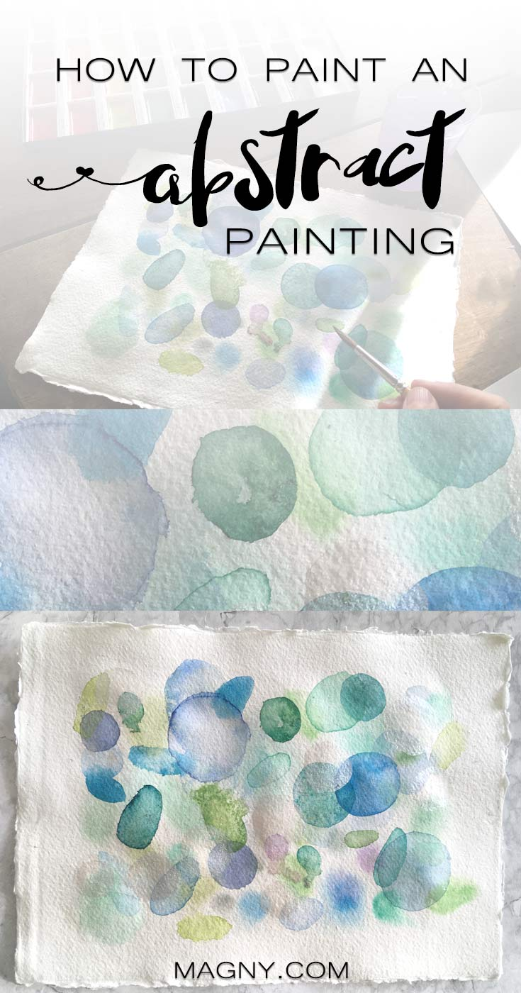 Watercolor and SALT abstract painting