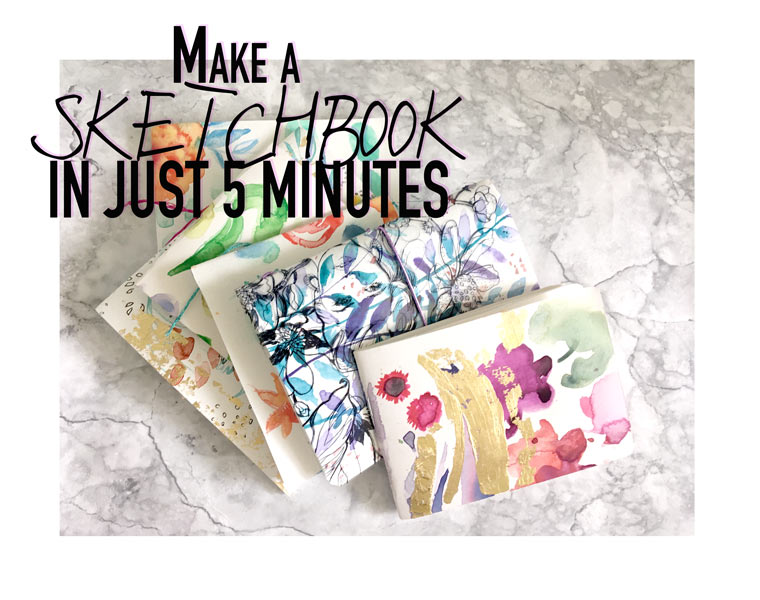 Make a proper sketchbook in just 5 minutes- with staples