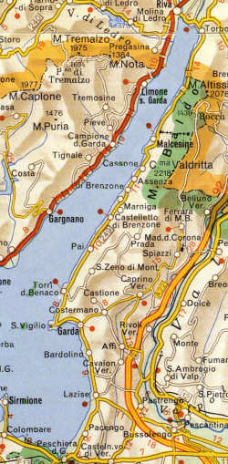 Lago Di Garda Monte Baldo Val Lagarina Val Dadige Fiume