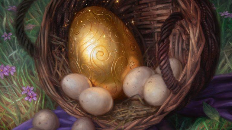 Golden Egg Arte de El Trono De Eldrainepara banner