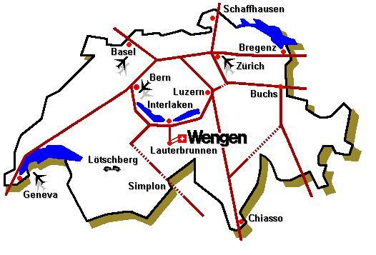 Map of Wengen