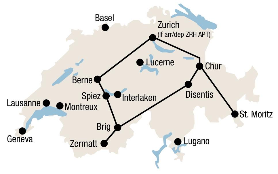 Glacier Express Train Switzerland Glacier Express Route