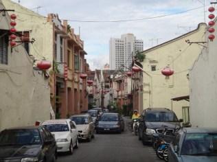 a street in china town Melaka