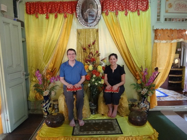 Tanya and Andrew in Malay house again Melaka