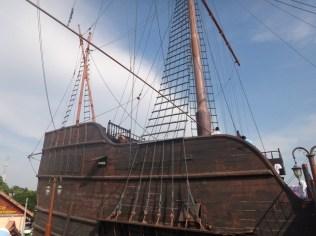 replica ship in Melaka
