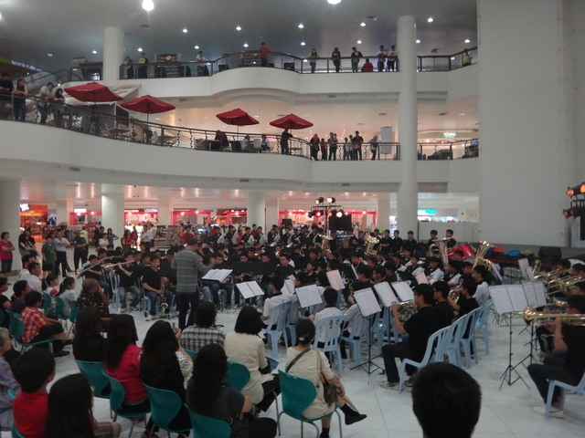 school band performing Melaka