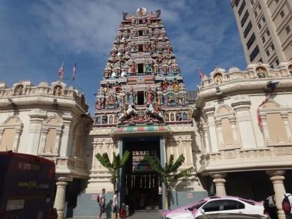 Tall Hindu temple in Kuala Lumpur
