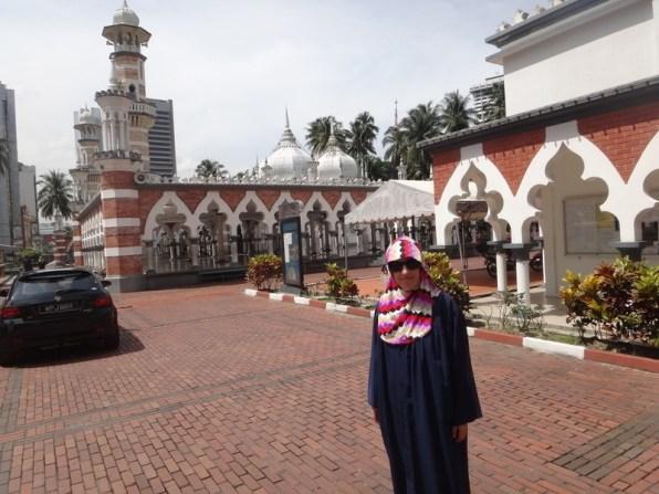 Tanyas new outfit at Mesjid Jamek Kuala Lumpur