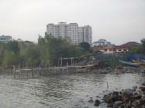fishing shack and apartments Melaka