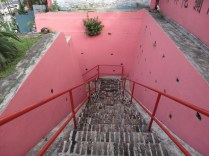 red temple stairs in kuala lumpur